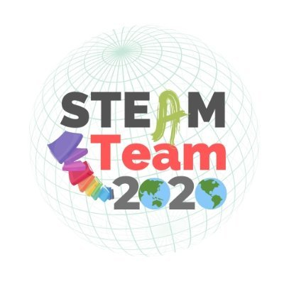 Steam Team 2020 logo with books and globe
